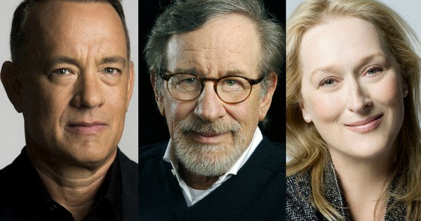 Tom Hanks, Steven Spielberg and Meryl Streep.