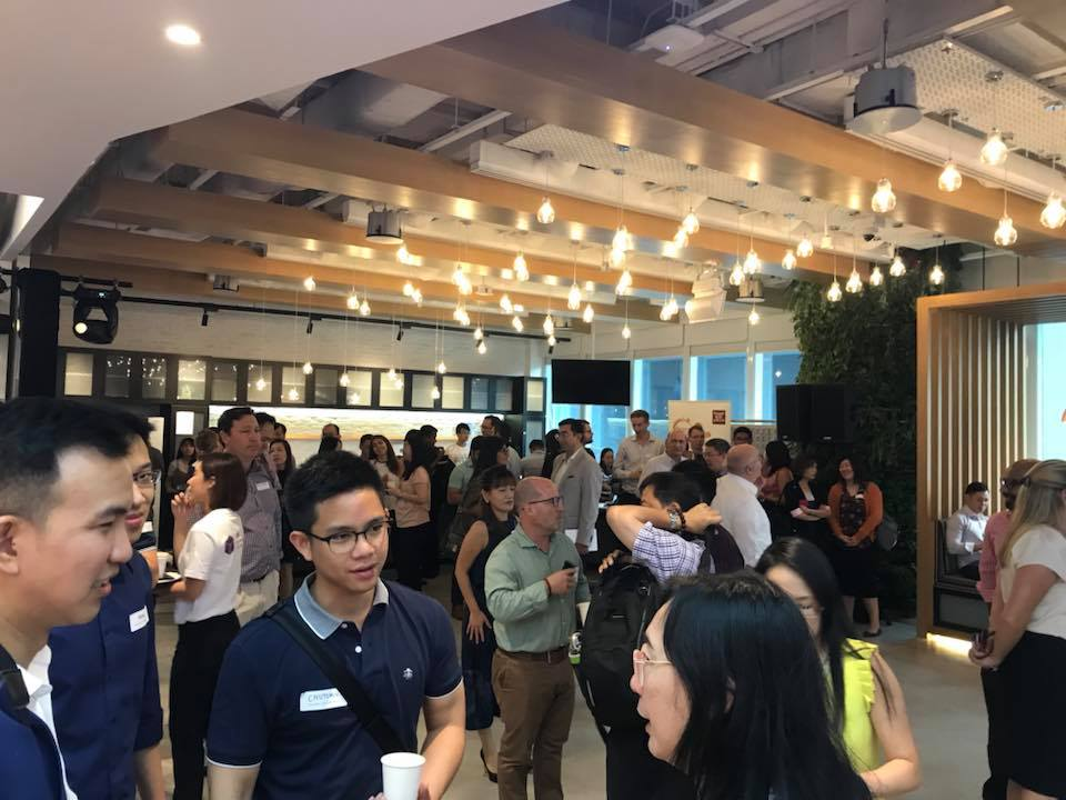 Delegates interacting with one another  during Singapore Fintech Festival. Photo courtesy: Facebook