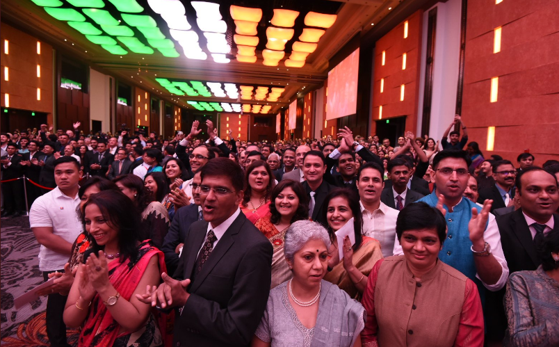 Indian community members in Philippines came in large numbers to listen to Indian Prime Minister Narendra Modi's speech.