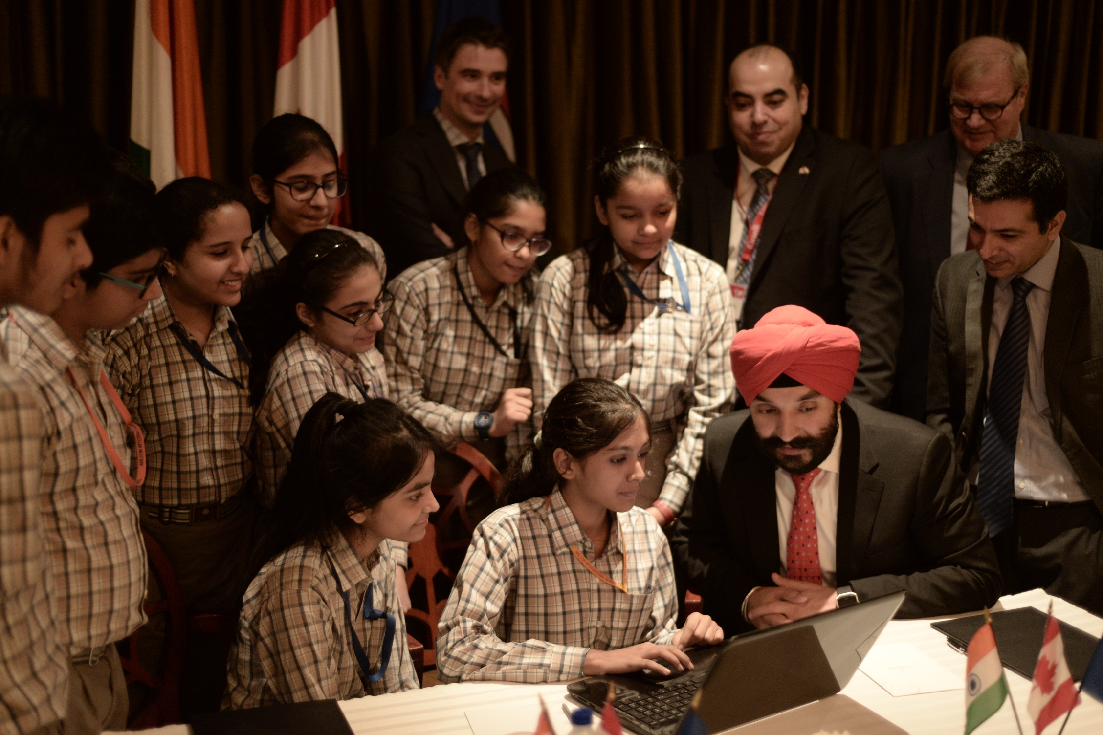 School Kids with Navdeep Bains