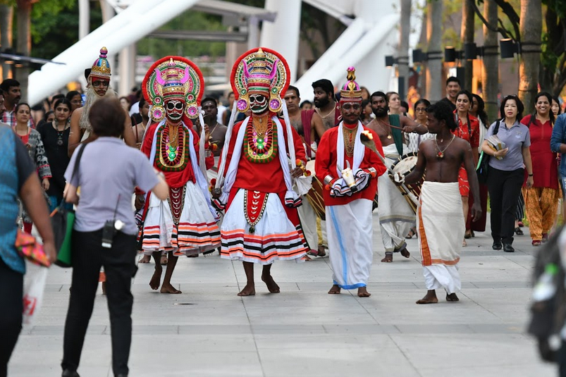 Mudiyettu is a traditional ritual theatre and folk dance drama from the Indian State of Kerala. Photo courtesy: IndieStrings