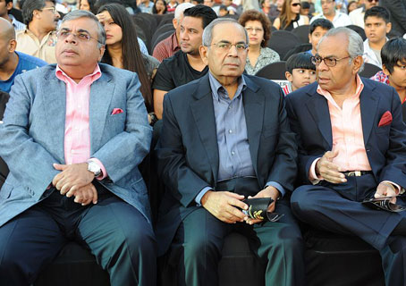 From left to right, Ashok Hinduja, Gopichand Hinduja and Srichand Hinduja