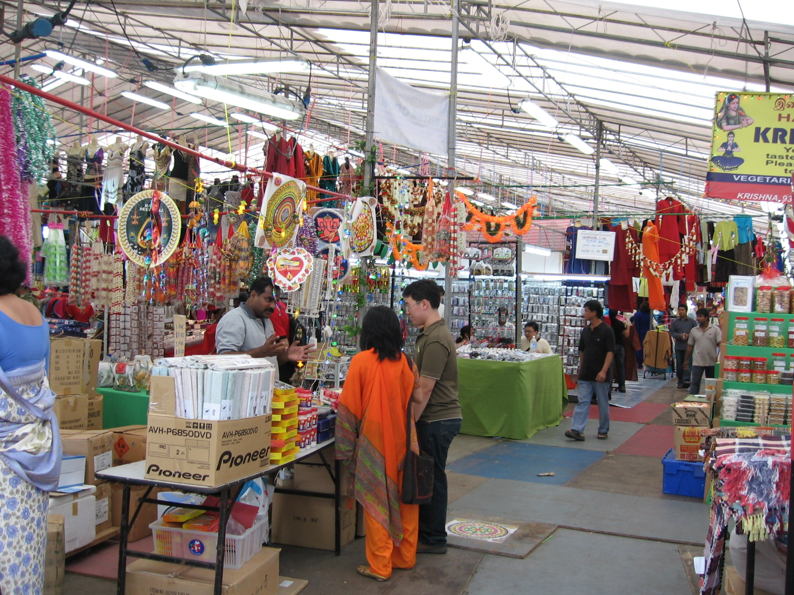 Little India area of Singapore is very popular for selling Indian products.