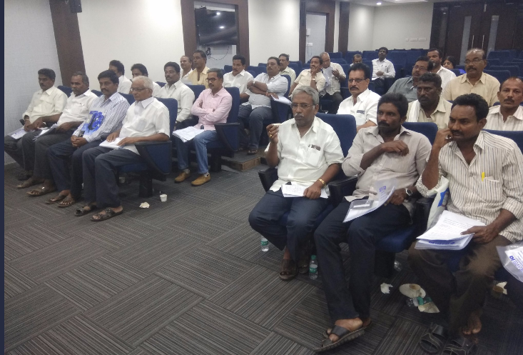 Second batch of Andhra Pradesh farmers being briefed about their Singapore tour.
