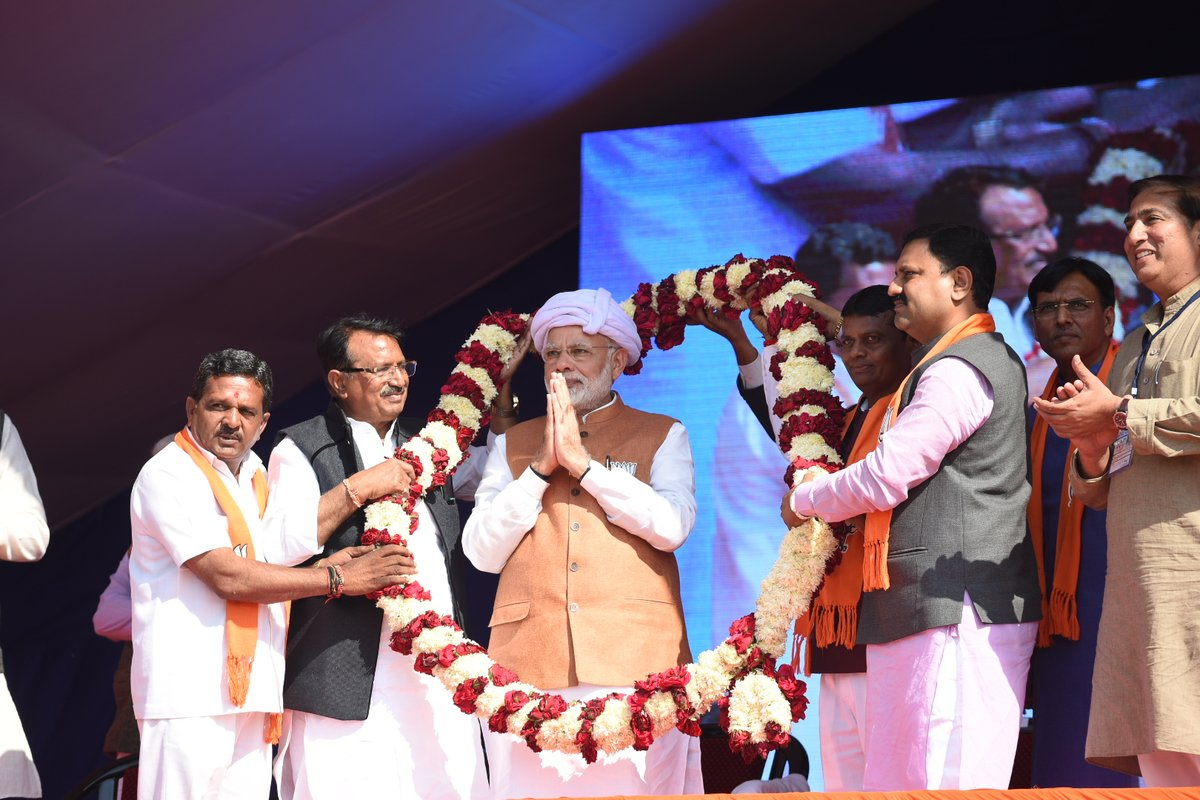 PM Modi on the campaign trail in Gujarat.