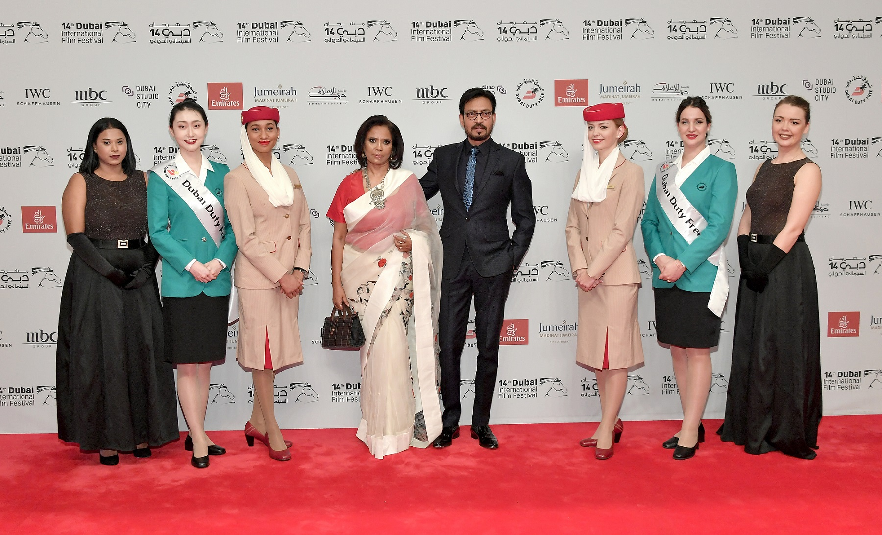 Indian actor Irrfan Khan graced the red carpet during the opening of Dubai International Film Festival.