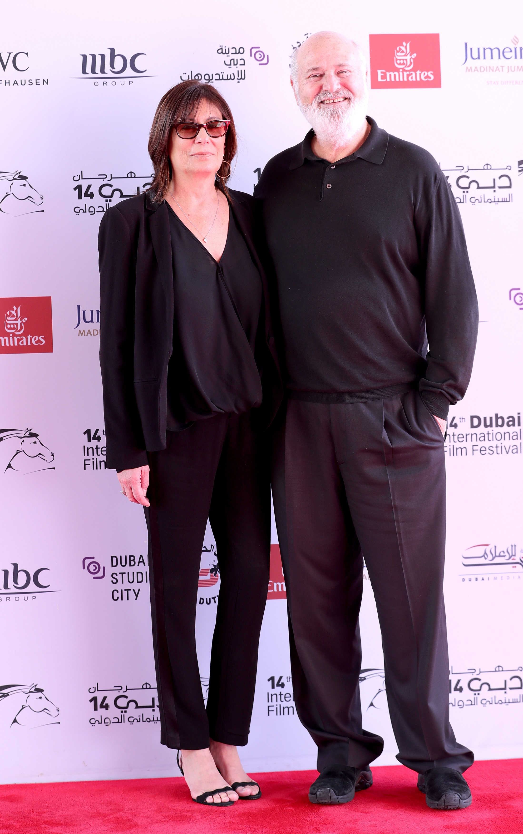 Academy Award-nominated actor, writer, producer and director Rob Reiner along with his wife Michele Singer Reiner at the red carpet in the ongoing Dubai International Film Festival. Photo courtesy: DIFF