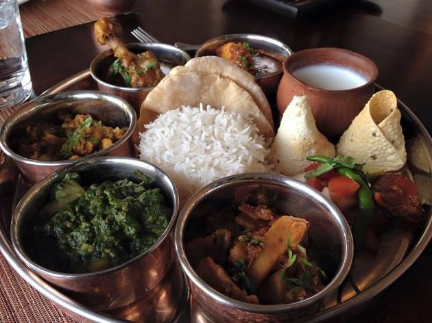 The thali is loaded with homemade white butter, delicacies as kachri ki sabji, #khichdi, bajra/besan chapatti, homemade buttermilk, spicy curds, kadhi pakora etc