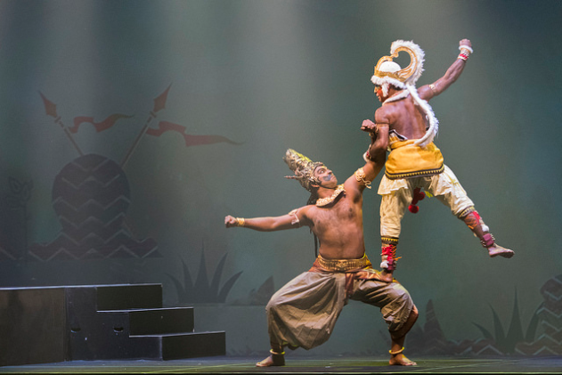 The infinite power of Hanuman is showcased as he charges on Ravana's son Meghnadha and ultimately overpowers him. The fight is ensued as Lord Rama goes to Sri Lanka to rescue Sita from the clutches of demon king Ravana.
