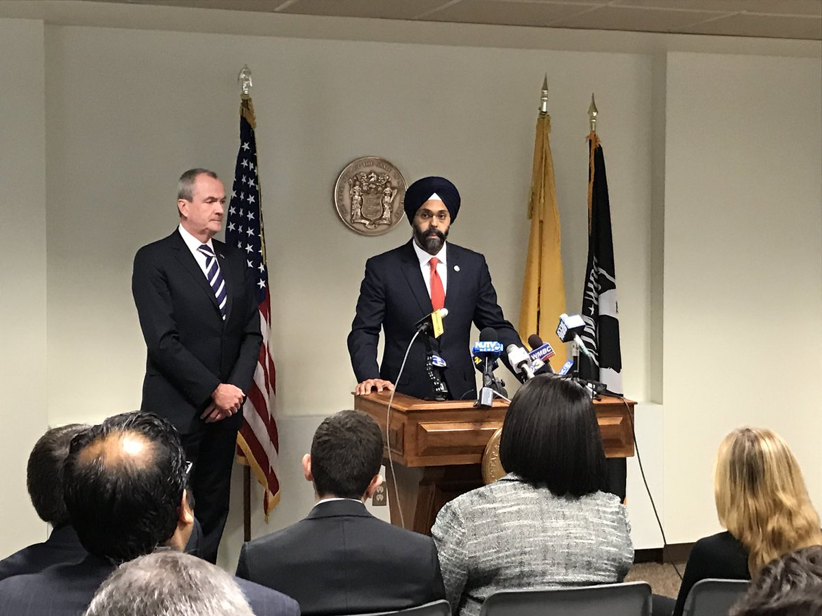Phil Murphy today named Gurbir S Grewal as his nominee to serve as the next Attorney General of the state.