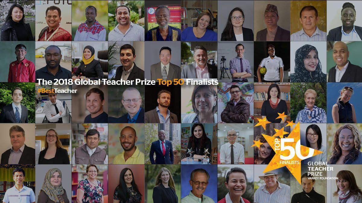 The 50 shortlisted candidates for the Varkey Foundation Global Teacher Prize.