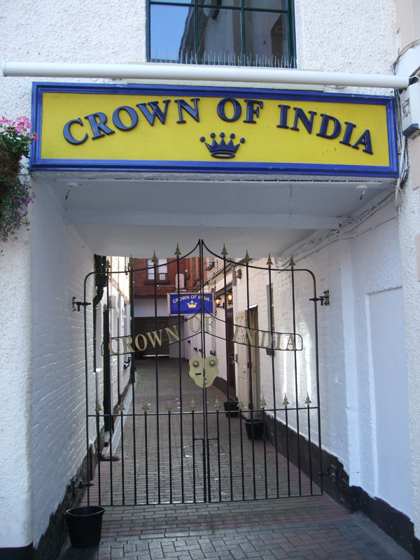 The Crown of India on the High Street in Stone.