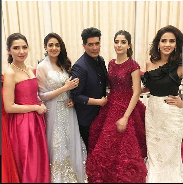 Film stars including fashion designer Manish Malhotra present at the Masala Awards in Dubai.