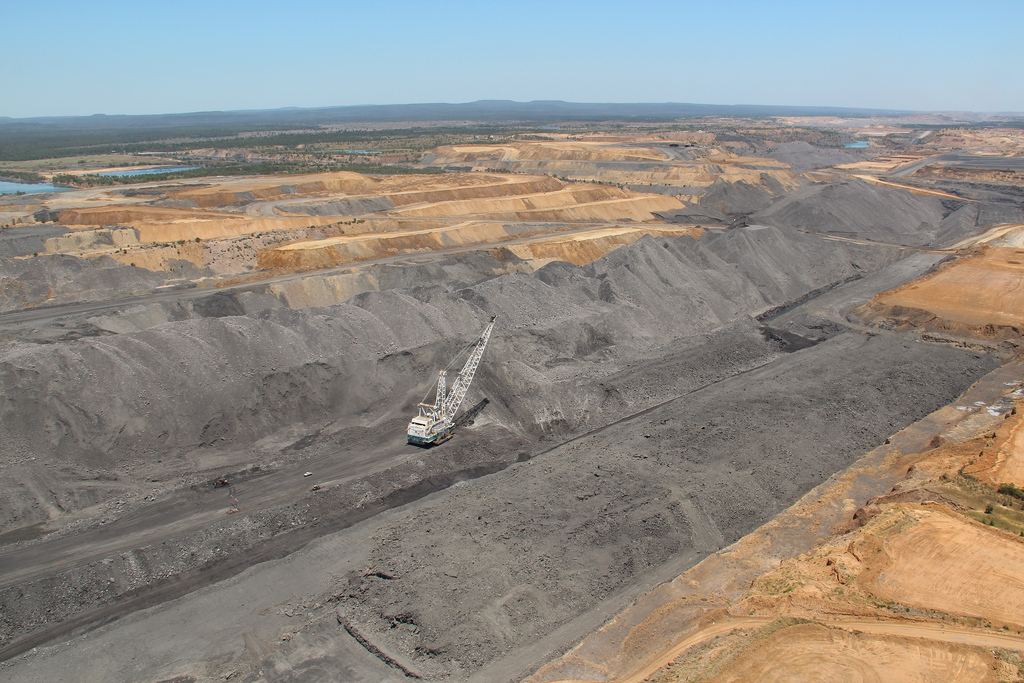 A coal mine in Queensland peak Downs.