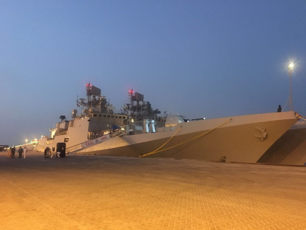 INS Teg, INS Trikand docked at Abu Dhabi harbour (Photo courtsey: Indian Embassy in UAE)