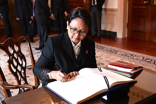 Indonesian Foreign Minister Retno Marsudi will host a banquet in Indian minister Swaraj's honour. Photo courtesy: US Department of State
