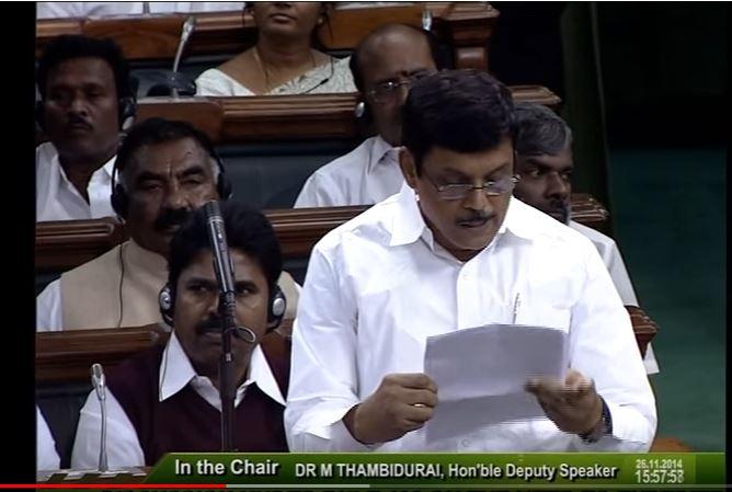 Venkatesh Babu T G,  an All India Anna Dravida Munnetra Kazhagam(AIADMK) MP from Chennai, Tamil Nadu
