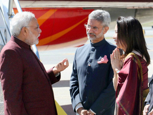 Indian Foreign Secretary S Jaishankar enjoys a close rapport with the Indian Prime Minister Narendra Modi. Photo courtesy: Twitter