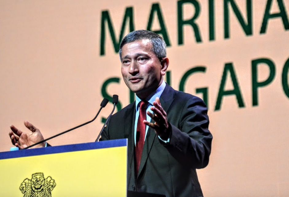 Dr Vivian Balakrishnan is all smiles as he says,