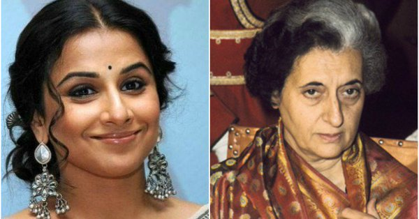 Bollywood actress Vidya Balan (left) to play former Indian Prime Minister Indira Gandhi.
