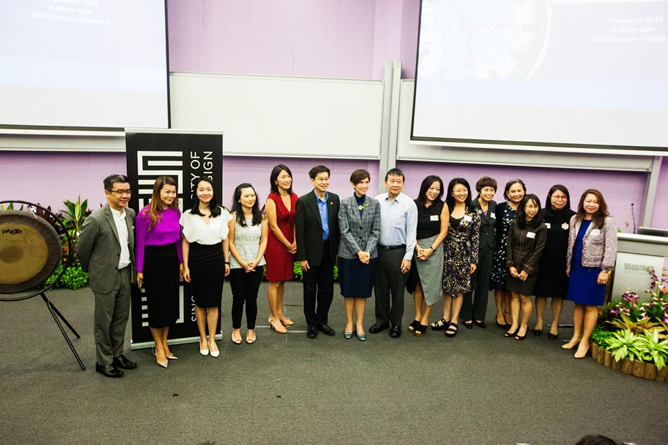 Second Minister for Home Affairs and Manpower of Singapore Josephine Teo and other dignitaries participating in the 'Women in Technology and Design conference' organised at the Singapore University of Technology and Design.