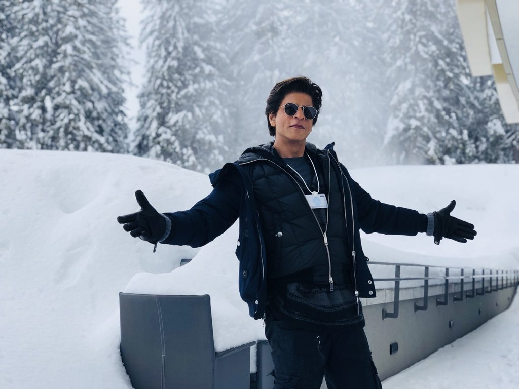 Bollywood star Shah Rukh Khan is at the World Economic Forum 2018 where he was honoured for his work for women's and children's rights in India.