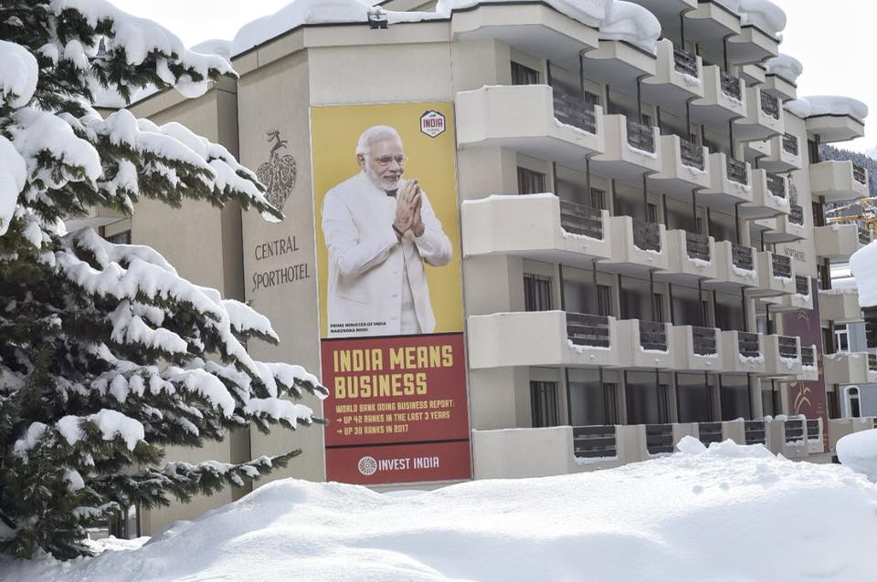 There is so much excitement in Davos about the Indian Prime Minister Narendra Modi that billboards were placed at various parts of the city ahead of World Economic Forum meeting.