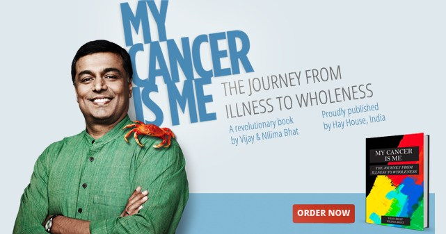 Vijay himself was a victim of the disease, and his book My Cancer is Me, co-authored with his wife Nilima, lays out his journey to becoming cancer-free and turning the ordeal into a positive experience