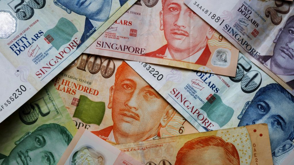 Singapore dollar surged to its highest in three years against the US dollar.