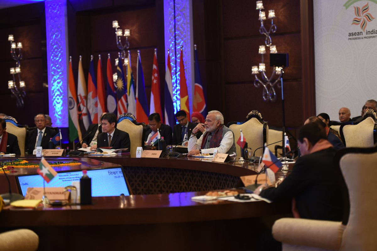 Indian PM Modi spoke about the shared cultural and religious linkages the nation and ASEAN members shared.