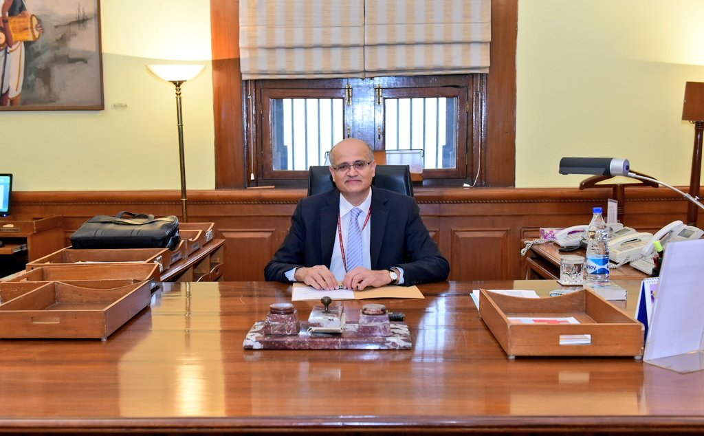 Vijay Gokhale assumes office as new Foreign Secretary at Indian Ministry of External Affairs(Photo courtsey: MEA)
