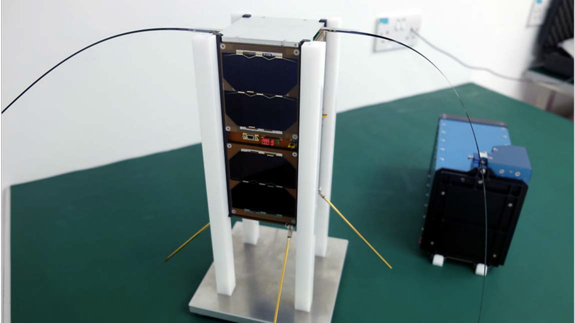 This is the first nano-satellite, Galassia developed by NUS undergraduate students. It was launched in the space on December 16, 2015.