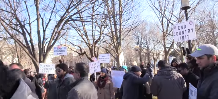 This was one of the rare pro-Trump immigration rallies at the White House.
