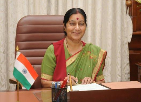 Sushma Swaraj leaves for first official visit to Saudi Arabia