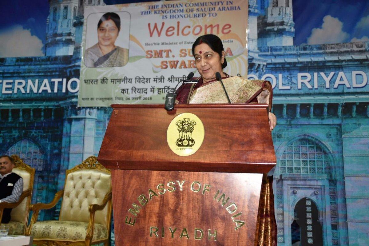Sushma Swaraj-Riyadh