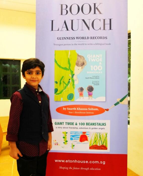 Saarth at the book launch.