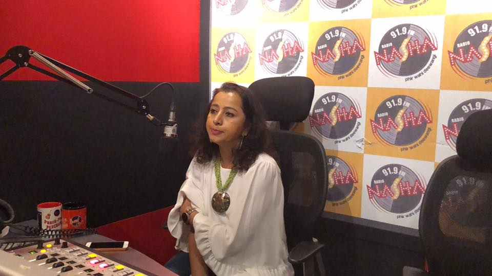Shalakaa Ranadive in a radio interview promoting Dastak's performance in Mumbai's Kala Ghoda festival.
