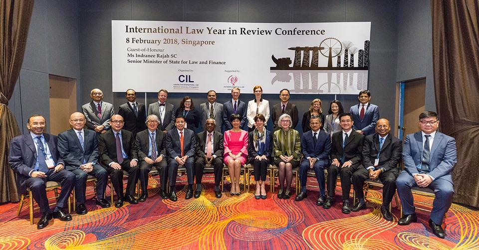 Indranee Rajah, former Chief Justice of Canada Beverley McLachlin and the rest of the panel members at the International Law Year in Review Conference