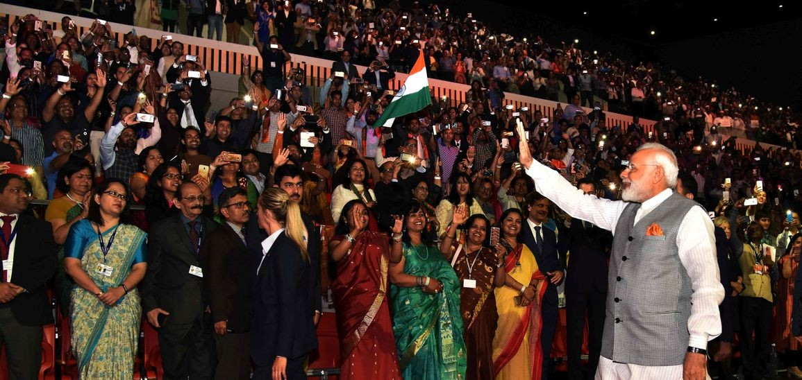 Indian Prime Minister Narendra Modi has a large fan following among the members of Indian diaspora.