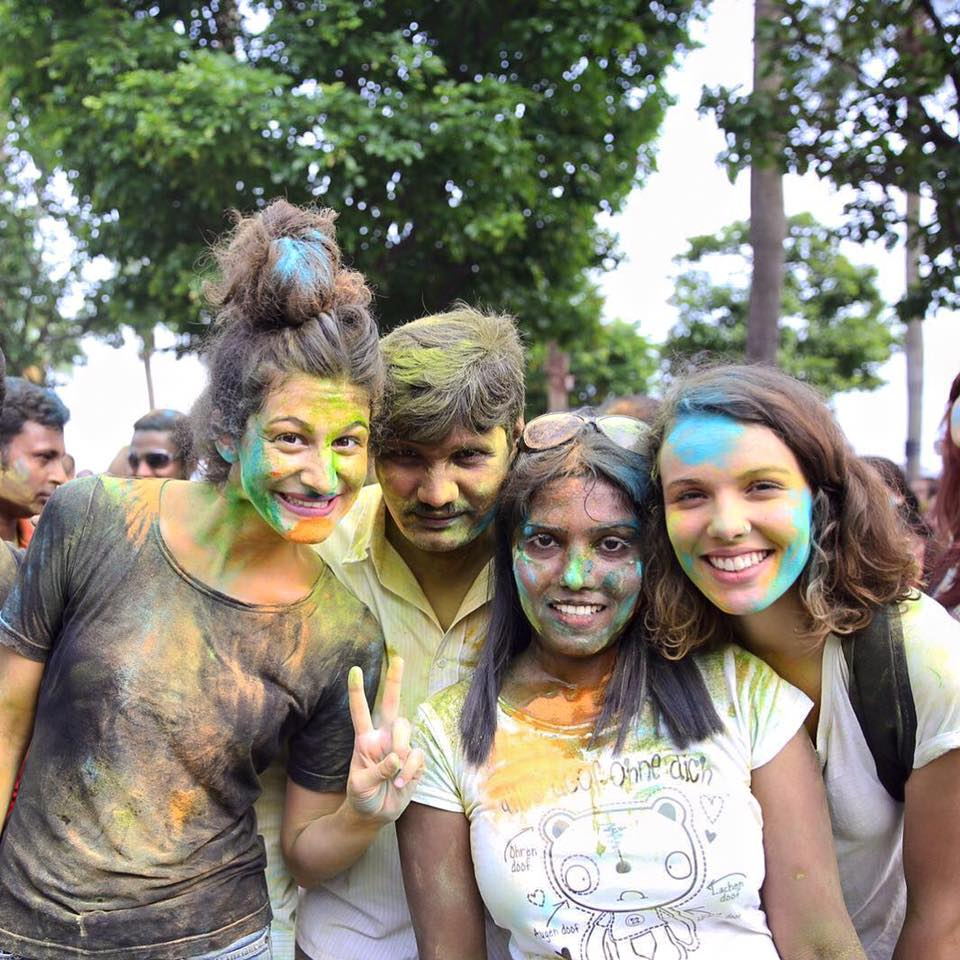 Indian communities all over the world gather on Holi each year to throw colour at each other in celebration of the spring festival.