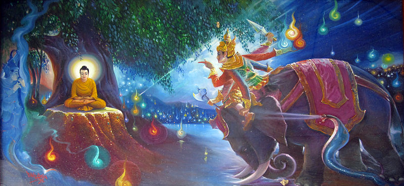 Mara is the demon who infamously attempted to entice Gautam Buddha.