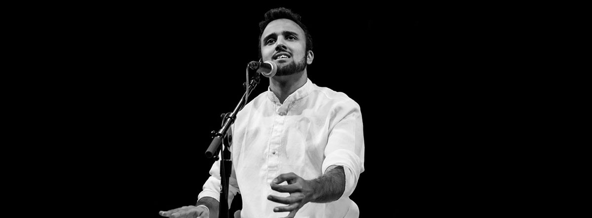 Aditya Prakash is an award-winning, American-born Indian classical vocalist best known for his powerful and emotive voice. Photo courtesy: adityaprakashmusic.com