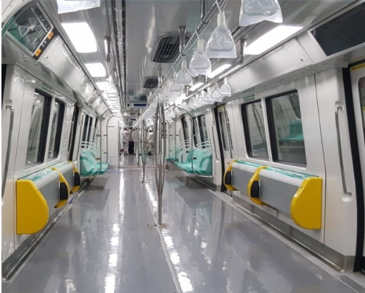 The new MRT trains will be the first in Singapore to incorporate tip-up seats which will increase more standing free space for commuters during peak hours.