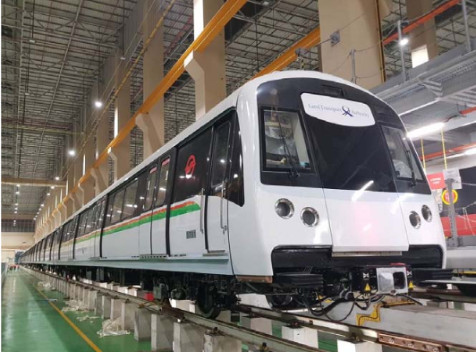 The new MRT train has been delivered to Tuas West Depot.