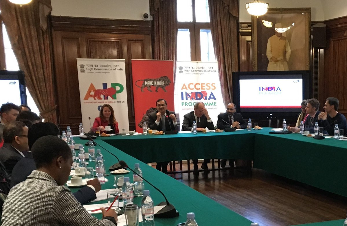 The City of London Corporation's Special Adviser for Asia Sherry Madera chaired a roundtable with UK fintech firms on 21 Febryary at the High Commission of India in London. Photo courtsey: City of London Corporation