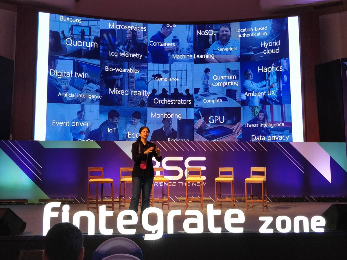 General Manager of CSE at Microsoft India Aparna Gupta said the technology space is moving so rapidly, if you are not doing it someone else will do it. By 2020 everything will get disrupted and the biggest sector will be consumer banking. Major drivers of this disruption will be the banks themselves and the entire ecosystem is being supportive. Photo courtsey: Fintegrate Zone.