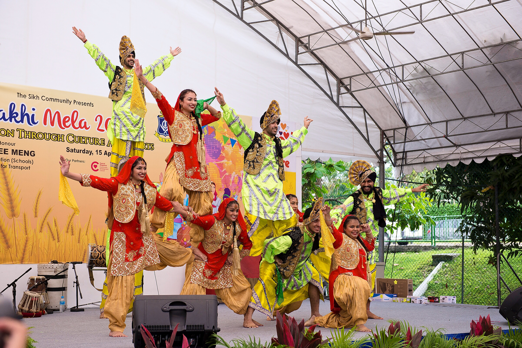 Cultural festivities such a bhangra performace are a prominent feature of the Baisakhi mela. Photo courtesy: SKA