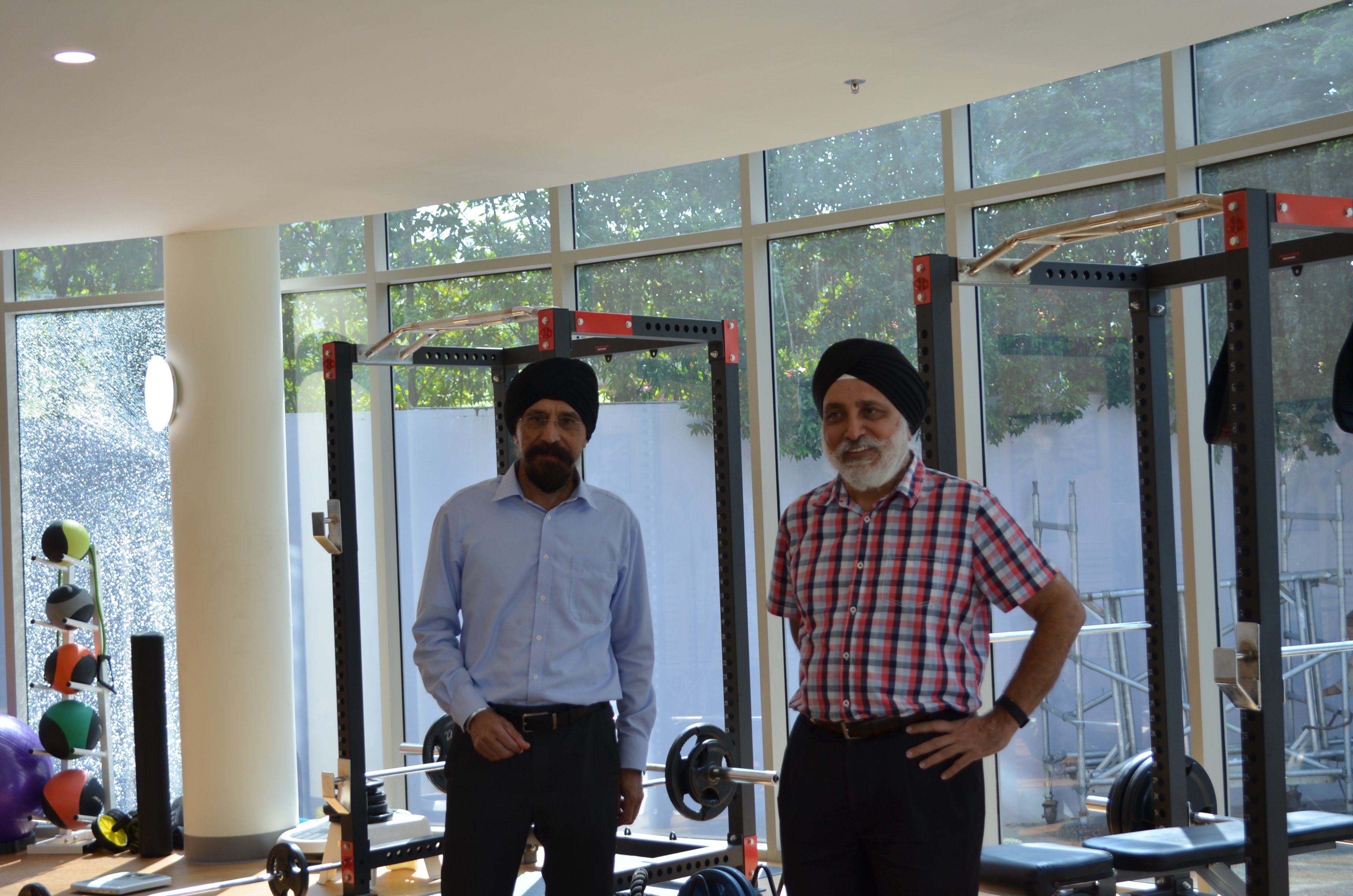 Mohinder Singh (left) is the president of the SKA. Seen here with General Manager Albel Singh in the SKA gym.