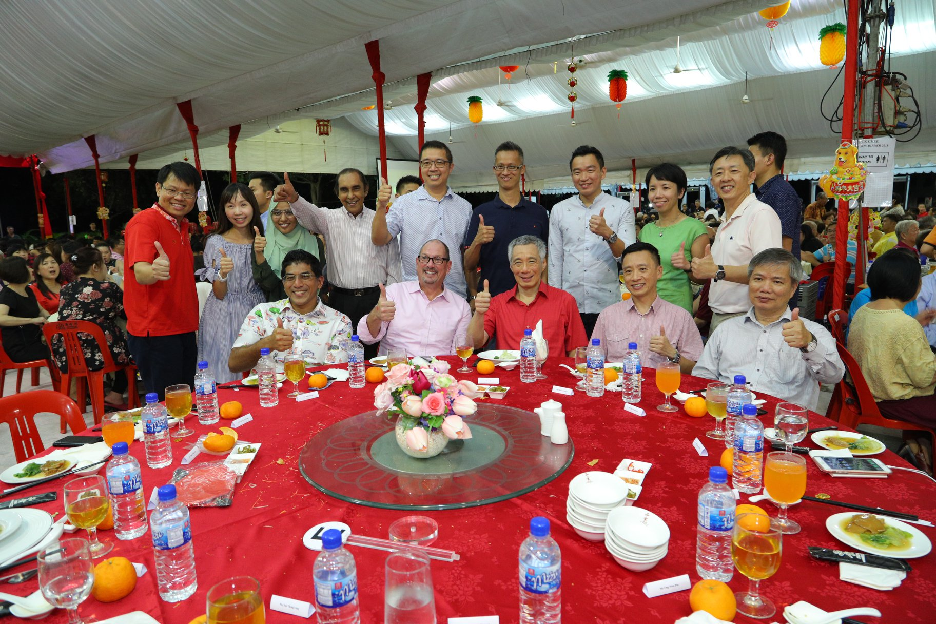 Prime Minister Lee Hsien Loong at the Teck Ghee Chinese New Year dinner. Photo courtesy: LHL FB page