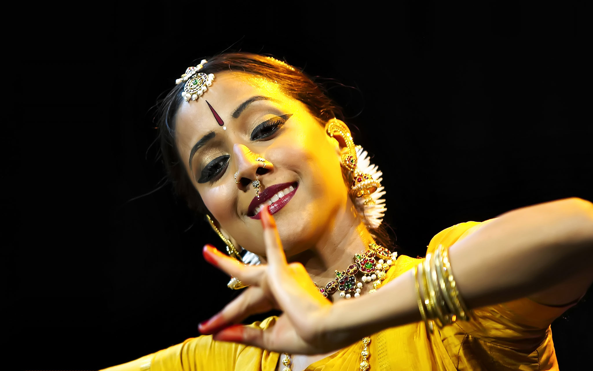 Mythili has toured her own solo productions in the United Kingdom, Scotland, France, and Singapore, the United States and Mexico.
